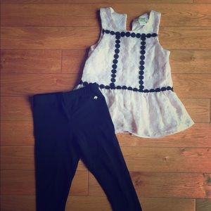 Kate Spade Girls Size 5 sleeveless top & pant set